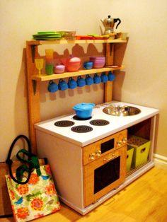 Children 39 S Kitchens On Pinterest Play Kitchens Wooden Play Kitchen And