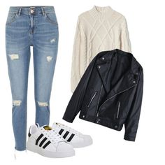 """""""Untitled #20"""" by joanacardoso-ii on Polyvore featuring River Island and adidas"""