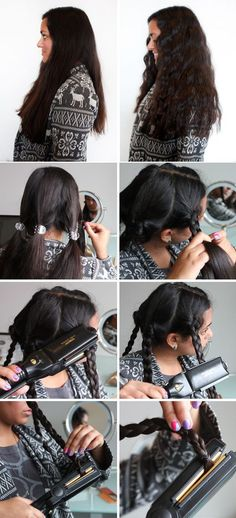 Flat-iron your braids as a quick way to create waves. | 29 Hairstyling Hacks Every Girl Should Know
