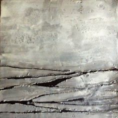 Bipolar - Original Encaustic (hot wax) Painting.
