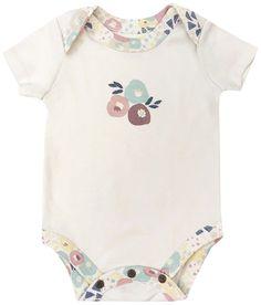bb4fad3cf7f4 Wildflowers + Egret White Organic Bodysuit