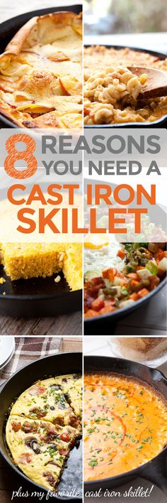 Eight Reasons You Need a Cast Iron Skillet! Besides the fact that you can use it for defense, here are eight reasons (and recipes) for why you need a cast iron skillet (or more than one) in your life! | macheesmo.com