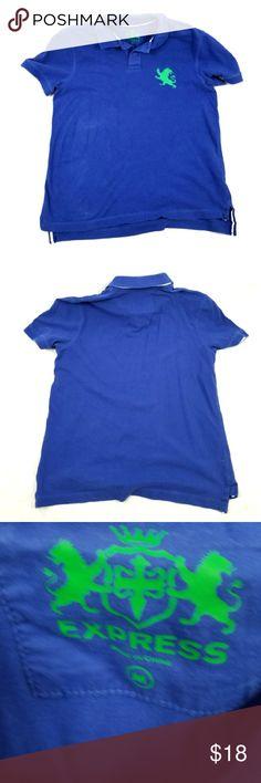 EXPRESS COLLARED BLUE POLO SHIRT EXPRESS COLLARED BLUE polo shirt in good condition. Express Shirts Polos