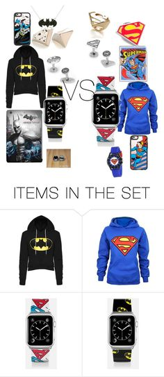 """batman vs superman fight #epic"" by superdope101 ❤ liked on Polyvore featuring art"