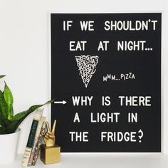 We may never know the answer, but at least we now know how to make a letter board pizza slice. : @brookebacon