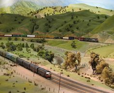 Tehachapi Pass in HO scale on the San Diego Model Railroad Museum by Batty aka Photobat, via Flickr