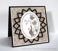 Asian Inspired Card - I have the stamp and the Nestie Lotus Pendant set