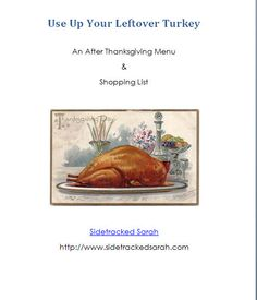 Free eBook: Use Up Your Leftover Turkey Meal Plan (Subscriber Freebie)