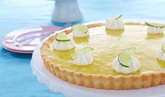 Freshen up your day with this bright and beautiful citrus lime pie recipe. - Easter, Pie Dough, Pie/Tart, Egg, Citrus, American, Spring, Dessert