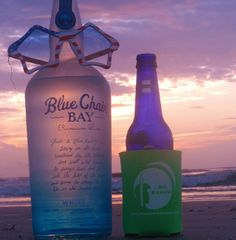 797d7e8a51 On the beach with Kenny s Blue Chair Rum and a beer! Thanks to our Pal  Rusty for the kick ass photo!