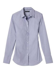 Banana-Republic: Riley-Fit Super Stretch Shirt - size 10.