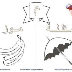 تلوين الحروف العربية – حرف الميم – م