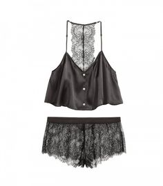 H&M Pajamas in Silk and Lace