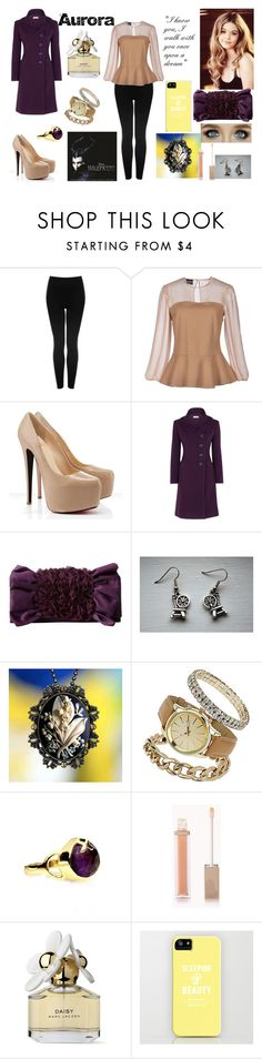 """""""Aurora"""" by dance76326 ❤ liked on Polyvore featuring Topshop, PF Paola Frani, Minuet Petite, Magid, Dorothy Perkins, Accessorize, Forever 21, Marc Jacobs, Disney and women's clothing"""