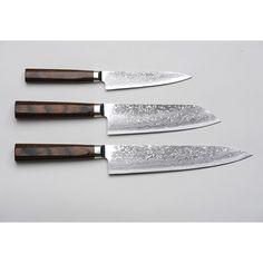 R4 Damascus 3-Piece Set (Paring Knife, Santoku Knife and Chef's Knife) « Unique Japan (uniquejapan.com)