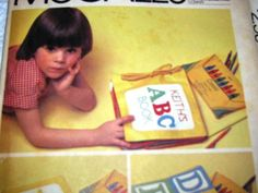 Vintage McCalls Pattern Childrens Fabric Book by TheIDconnection, $20.00
