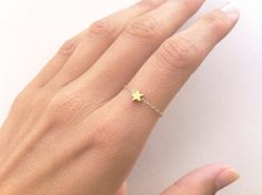 Gold Rings – Star Ring Stackable Dainty Ring with a Tiny Star – a unique product…