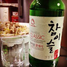 소주는 역시 참이슬 클래식! Representative Korean Soju, Cham-Yi-Sul classic. #KoreanFood #Korea #Food