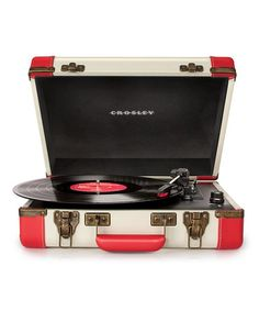 Take a look at this Red & White Executive USB Turntable by Crosley on #zulily today!