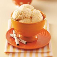 Peach Gelato Recipe -This heavenly, creamy gelato looks as good as it tastes. The mild, refreshing peach flavor will make everyone a fan. —Molly Haen, Baldwin, Wisconsin
