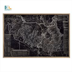 Gerahmtes Metallbild Grand Canyon Amerika Landkarte East Urban Home Painting Prints, Art Prints, Canvas Art, Canvas Prints, Mixed Media Photography, House Map, Nature Scenes, World Cultures, Picture Wall