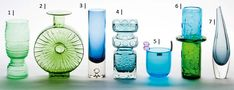 Finnish designer glass - Helena Tynell E. Kosta Boda, Glass Ceramic, Glass Design, Aladdin, Decorative Accessories, Scandinavian, Glass Art, Retro Vintage, Pottery