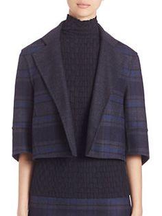 Akris - Reversible Emma Double-Face Wool Plaid Jacket