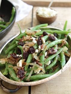 Sweet and salty green bean cherry salad by Runningtothekitchen