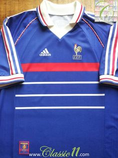 Relive France s 1998 1999 international season with this vintage Adidas  home football shirt. France fe6984fd7