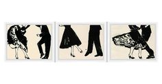 """We can almost hear the music. Hang this trio of beautifully framed prints anywhere for a hit of vintage-inspired style. Prints are titled, from left to right, """"Let's Dance"""" III, IV, and V. Each is..."""