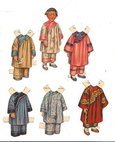 Chinese paper doll girl by Sheila Young, ca 1910s