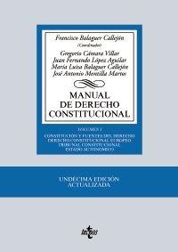Manual de derecho constitucional / Francisco Balaguer Callejón (coordinador) ; Gregorio Cámara Villar... [et al.]