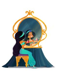 Princess Jasmine Be sure to stop by WonderGround Gallery in the Downtown Disney ® District at the Disneyland ® Resort to check out m. Disney Cute, Disney Nerd, Disney Marvel, Disney Fan Art, Disney Dream, Disney Girls, Disney Movies, Disney Characters, Punk Disney