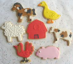 farm Animal Decorated Cookies -