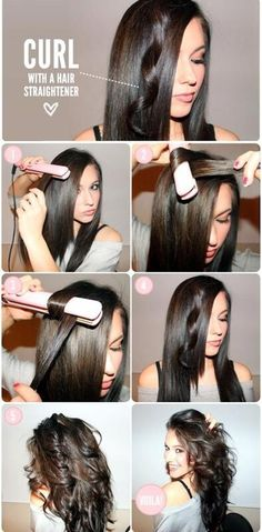 Curling your hair with a straightener