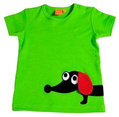 Lipfish groen shirt teckel - Baby- en kinderkleding bij ScandinaviëXS