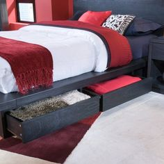 Metropolitan Storage Platform Bed - Bedroom Sets at Hayneedle