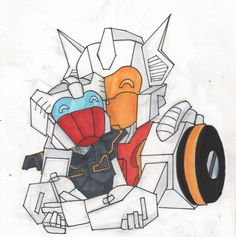 transformers mtmte chromedome rewind couple hug draw art work copic markers