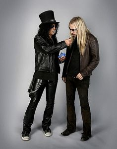 Slash and Jerry Cantrell- Slash always seems to be the one with the light.