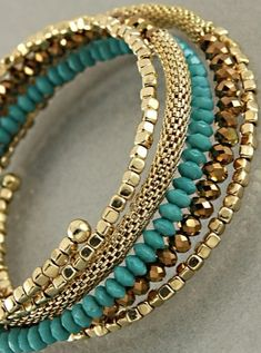 Need to DIY this!! .......Paris Green Samria Bracelet (photo only)