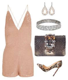 Sparkle and Shine in Valentino #playsuit by arta13 on Polyvore featuring polyvore fashion style Valentino Christian Louboutin GEDEBE clothing
