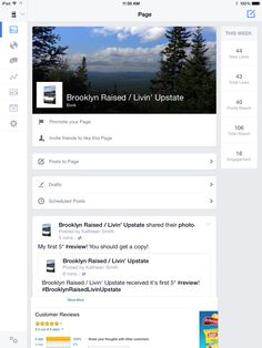 New FaceBook page.