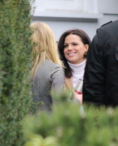 Jennifer Morrison & Lana Parrilla on set - February 11, 2015