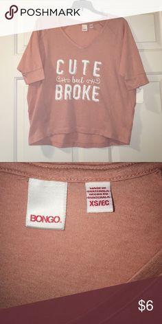 Bongo Long Crop Top Bongo mellow rose boxy tee (slightly cropped) in size XS. NEVER WORN. BONGO Tops Crop Tops