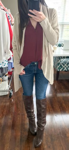 AG skinny jeans with Leith easy circle cardigan and Lush tab sleeve tunic | Nordstrom Anniversary Sale 2017 Hits and Misses by southern blogger Diary of a Debutante