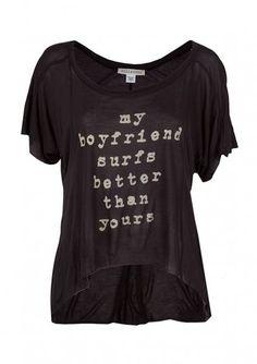 Shop T-Shirts > Billabong Big Crush Tee - Women's at Jacks Surfboards-just need the hot surfer boyfriend now! lol