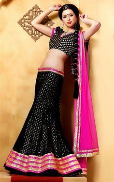 Picture of Splendorous Black Color Party Wear Choli