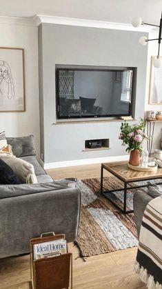 Decor Home Living Room, Boho Living Room, Living Room Grey, Small Living Rooms, Home And Living, Bohemian Living, Living Room Decor For Apartments, Tv Stand Living Room, Living Room Ideas With Tv