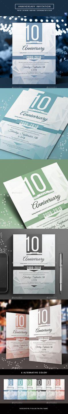 Anniversary Invitation by arifpoernomo Anniversary Invitation Template. Can be used for multipurpose way like corporate anniversary, company anniversary, corporate party