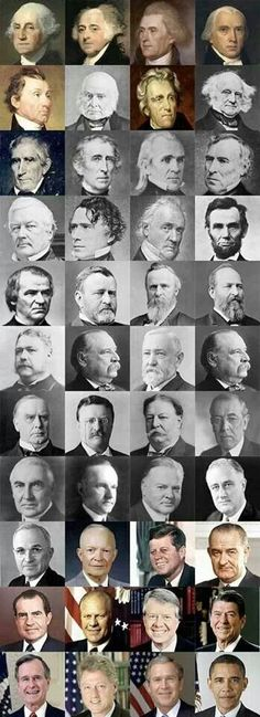 Happy President's Day! Out of all of these presidents I barely know about 10 of them